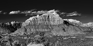ZION ~ Mt. Kinesava in B&W