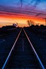 Going to the light (Thomas DeHoff) Tags: railroad train tracks vanishing point sunrise iowa sony a700