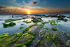 Shot this evening at sunset (stollman_ron) Tags: seascape travel nikon d600 sea sky clouds longexposure israel rocks