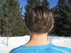 IMG_2337 3-16-2018 (PGK88) Tags: outdoors winter nape man guy trees back backofneck backofhead head neck hair skin hairline haircut young 2018 365 pgk88 snow closeup