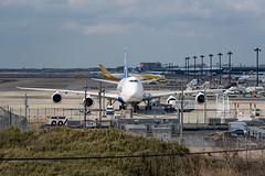 NCA B747-8F, Tokyo Narita (kuyu-peach) Tags: 2018 aircraft airplane dslr narita naritaairport nikon nikond750 tamronsp150600mmf563divcusd air aviation cloud engine runway sky takeoff travel wing world
