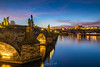 Blue hour in Prague... (DaLiu_) Tags: river bridge prague sunset famous europe urban old sky town travel czech building charles city architecture cityscape stone vltava republic tourism blue landmark view most tower history castle sunrise karluv european national cultural gothic scene historic culture water capital praha bohemia historical baroque sunlight charlesbridge czechrepublic vltavariver traveldestinations famousplace karluvmost