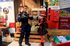 Paprihaven 1325 (MayorPaprika) Tags: 16 custom diorama toy story paprihaven action figure set canoneos50d diner 50s jukucouture audrina jakkspacific realheroes topcop ertl