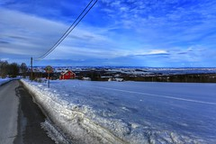Landscape (Roman_P2013) Tags: skreia norway norge best shot nice road snow winter view house red beautiful