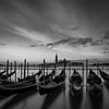 The gondola (hjuengst) Tags: sonnenaufgang venedig wolken sunrise italy venice venezia italien gondola gondel sangiorgiomaggiore clouds blackandwhite schwarzweis