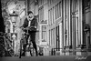 Iemand zin om een stukje te fietsen? (Digifred.) Tags: digifred 2018 amsterdam nikond500 nederland netherlands holland iamsterdam straat street city grachten streetphotography toeristen tourists candid blackwhite blackandwhite monochrome people portret portrait girl girls cycling bicycle fiets tandem