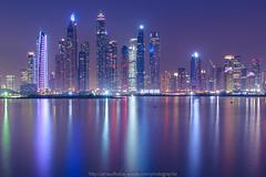 Dubai Marina (http://arnaudballay.wix.com/photographie) Tags: 2018 night dubai seascape longexposure nuit nikond610 mer émiratsarabesunis ae dubaimarina palmjumeirah princesstower cayantower nikkorafs1635mmf4