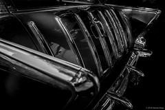 1957 Chevrolet Nomad ©2018 Steven Karp (kartofish) Tags: automobile chevrolet nomad 57chevy 1957 chrome monochrome blackandwhite autoshow 2017newtownautoshow pennsylvania buckscounty fuji fujifilm xt2 tailgate tailfins