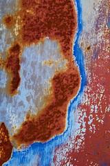 Blue Bayou (StephenReed) Tags: bluebayou metal rust paint chippedpaint abstract art abstractart blue nikond3300 stephenreed