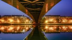 Reflets Namur - 4965 (YᗩSᗰIᘉᗴ HᗴᘉS +17 000 000 thx) Tags: bridge reflets reflexion réflection reflection reflet water night hensyasmine namur belgium europa aaa namuroise look photo friends be wow yasminehens interest intersting eu fr hss sliderssunday
