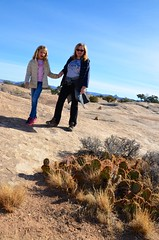 Violet & Mommy On The Slickrock Trail (Joe Shlabotnik) Tags: proudparents nationalpark utah hiking sue 2017 violet cactus canyonlands november2017 canyonlandsnationalpark afsdxvrzoomnikkor18105mmf3556ged