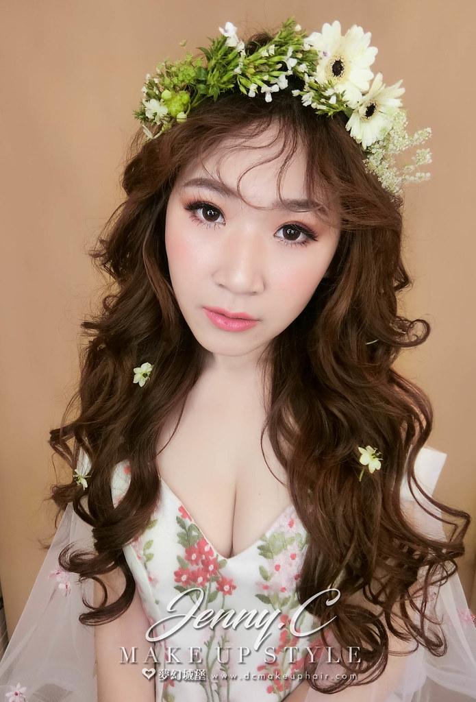 【新秘蓁妮】新娘造型創作 / 鮮花浪漫造型