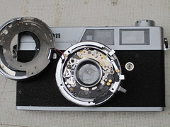 canonet ql19 old type (zaphad1) Tags: canonet ql19 ql 19 repair timer shutter