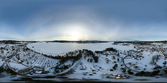 Lysvik (360x180) (ba7b0y) Tags: 360 panorama equirectangular ptgui pro lysvik värmland sweden snow drone dji mavic