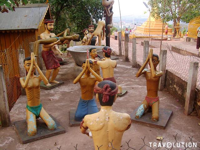 Buddhist hell at Wat Phnom Yat, Pailin large image