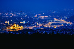 10/30 2017/03 (halagabor) Tags: nikon nikkor vintagelens manualfocus evening night nightscape nightlife city citylife cityscape citylights lights budapest hungary landscape longexpo tele d610 view panorama blue bluehour parliament bridges danube river capital downtown center urban outdoor outside