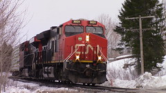 CN 305 Approaching Vieux Chemin (MaineTrainChaser) Tags: cn 305 trains train es44ac west westbound qc nb napadogan pelletier sub