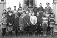 Class Photo (theirhistory) Tags: children boy kid school group form girl teacher jumper trousers skirt shoes wellies coat rubberboots
