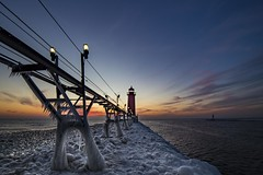Grand Haven on the rocks (Notkalvin) Tags: grandhaven lighthouse notkalvin mikekline notkalvinphotography ice iced icy winter lakemichigan michigan snow nopeople landscape outdoor water frigid canon photography