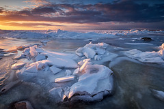 Spring is near (allan-r) Tags: landscape lahemaa ice sea spring beach water frozen melting baltics sunset sun colours fujifilm xt2 xf1024mm