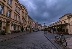 Krakow (Vagelis Pikoulas) Tags: krakow poland europe old tokina road town street bike bicycle bicycles sky clouds cloudy skyscape city cityscape urban landscape 1628mm canon 6d november autumn 2017