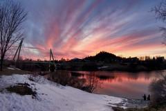 Vestiges de l'hiver (gaudreaultnormand) Tags: canada coucherdesoleil jonquère neige pastel quebec reflets rivièreauxsables sunset