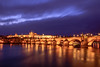 Prague castle (d_poltoradnev) Tags: prague castle river bridge charles vltava light evening twilight sunset sky city architecture lanterns tourism europe cityscape water long exposure night warm clouds tower