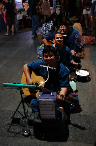 Saturday Night Market, Blind Singers - Chiang Mai