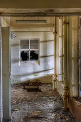 Silent Shadows (Michelle O'Connell Photography) Tags: scotland asylum victorianmentalinstitution derelict lostplaces sanitorium sunlight windows derelictwindowsanddoors hospital disused urbandecay glasgowphotographer michelleoconnellphotography