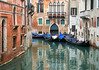 Gondolas in a canal in Venice, Italy (Frans.Sellies) Tags: img4667 venice italy italia italien italië venezia venedig