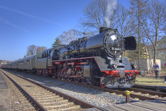 angespannt (wolf238) Tags: train zug eisenbahn dampflok passenger traffic nossen steam