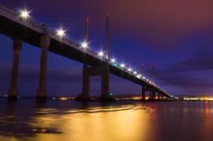 Kessock Bridge twilight (snowyturner) Tags: bridge beaulyfirth inverness longexposure clouds lights reflections 1855mm