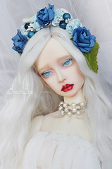 New floral headbands (AyuAna) Tags: bjd ball jointed doll dollfie flower crown headdress wreath sd sd13 sd10 sd16