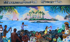 Mural On A Grocery Store (wyojones) Tags: hawaii hilo grocerystore mural art painting building drygoods side street householdgoods wyojones