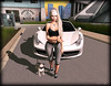 let's take a walk, buddy. (Yuna.Styles) Tags: bloggingsl maitreya fashion catwahead love besomhairsl puglove pug dog fashiowl bloom cosmopolitaneventsl