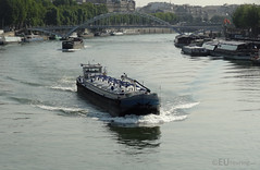 River Seine for cargo (eutouring) Tags: paris france city life citylife pariscitylife travel boat barge transport cargo river riverseine seine seineriver
