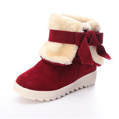 Women Bowknot Faux Fur Lined Comfort Flats Warm Snow Ankle Boots (957182) #Banggood (SuperDeals.BG) Tags: superdeals banggood bags shoes women bowknot faux fur lined comfort flats warm snow ankle boots 957182