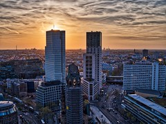 Sky Lounge Berlin HDR (mikehaui60) Tags: olympuspenepm2 pen epm2 mft aurorahdr aurorahdr2018 berlin skylounge hdr sunset goldenhour skyscrapers germany wallart cityscape