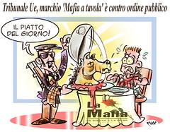"""Mafia Restaurant (Moise-Creativo Galattico) Tags: editoriali moise moiseditoriali """"editorialiafumetti"""" giornalismo attualità satira vignette mafia spagna ristoranti ue"""