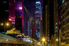HK Street view (fredrik.gattan) Tags: hong kong skyscrapers street road bridge way buildings night long exposure lights
