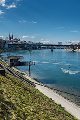 Basel and the Rhine River (Switzerland) (JBGenève) Tags: switzerland basel city architecture heritage buildings rhine river water bridge