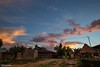 Over the Top - Sunset in a Jungle Mountain Village (0817) (Stefan Beckhusen) Tags: sunset sunrise dawn village mountain forest rainforest jungle tropic exotic buildings homes simplelife sky clouds paci manggarai flores indonesia lifestyle