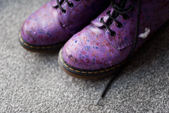 D2 / Y7. (evilibby) Tags: dms docs drmartens snow lace boots bootlaces carpet wet meltingsnow melting project365
