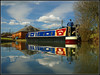 TACARA (Jason 87030) Tags: narrowboat braunston bottom lock guc grandunioncanal cut crt local walk sunny boat man reflection low water angle composition light march 2018 uk scene color tacara colourful waterways canalside