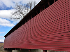 Thurmont MD ~ Utica Mills Covered Bridge (karma (Karen)) Tags: thurmont maryland frederickco bridges uticamillscoveredbridge historicbridge nrhp restored iphone cmwd