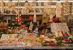 The seller (Kostas Trovas) Tags: portrait composition overload vendor yehliu taiwan streetmarket streetphotography seller woman frame merchandise people