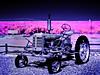 moon-farm-tractor (fe2cruz) Tags: tractor farm gravel aerochrome eir kodak pink blue purple fh20 lumix dc vario 14mp infraredconversion 650nm kolarivision california ca placentia originalmanasserofarms rural countryside 7dwf landscape