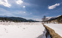 everyone is waiting for spring (hjuengst) Tags: wagenbrüchsee geroldsee bavaria bayern snow spring winter clouds wolken