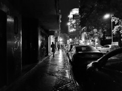 Rainy autumn in Bucharest (|krusade|) Tags: bucharest city rain rainy sidewalk bucuresti bw