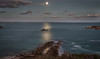 moonshine seashore (cheezepleaze) Tags: coast longexposure moon moonlight night reflection sea sunset